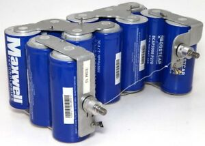 12x Maxwell Bcap3000 P270 Ultra Capacitors 3000 Farads 2 7v Dc Welded Together