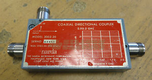 Narda 3002 20 Directional Coaxial Type N Coupler 95 2 0ghz