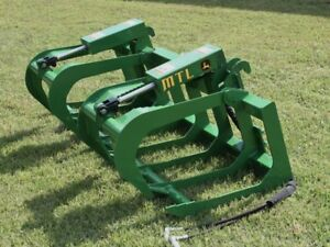 Mtl Attachments 60 Root Grapple Bucket Fits John Deere Tractor Loader