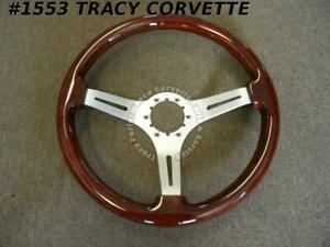 1963 1982 Corvette New Satin 3 Spoke 14 Mahogany Steering Wheel 63 1967 68 82