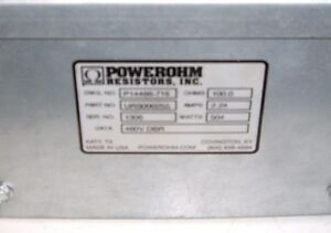Powerohm Dynamic Braking Resistor 100 Ohms 504 Watts 2 24 Amps e1