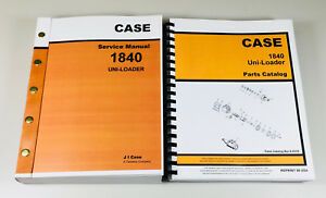 Case 1840 Uni loader Skid Steer Service Manual Parts Catalog Shop Book Set Tech