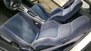 92 96 Honda Prelude Bb4 Si Complete Blue Type C Seat Set We Ship