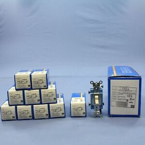 10 Leviton Ivory Industrial Grade 3 way Toggle Wall Light Switches 15a 1103 2i
