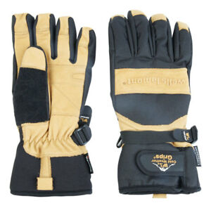Wells Lamont Black tan Universal Extra Large Cowhide Leather Winter Gloves