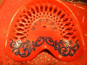 Victor Vintage Cast Iron Tractor Implement Seat Farm Collectables