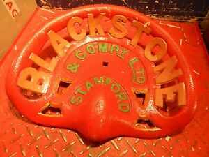 Blackstone Stamford Vintage Cast Iron Tractor Implement Seat Farm Collectables