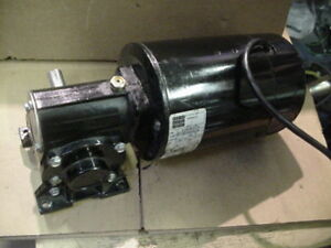 New Bodine Right Angle Gearmotor 4136 42a5bepm 5n 130vdc 1 4hp 125rpm