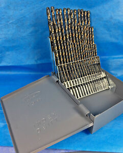 60 Pc Black Gold Drill Bit Set 1 To 60 Huot Case 135 S p Industrial Quality