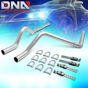 For 2004 2008 Dodge Dakota Stainless Catback Exhaust System Dual 2 5 tail Pipes