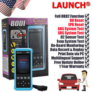 Launch Obdii Obd2 Scanner Tool Diagnostic Code Read Abs Airbag Srs Epb Oil Reset