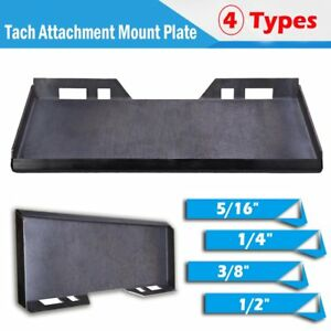 1 4 5 16 3 8 1 2 Quick Tach Attachment Mount Plate Skid Steer Bobcat Kubota
