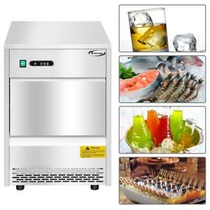 Automatic Ice Maker Machine W 70lbs 24h Productivity Commercial Kitchen Machine