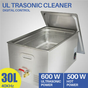 30l Ultrasonic Cleaner Liter Jewelry Cleaning Industry Heater W Timer Stainless