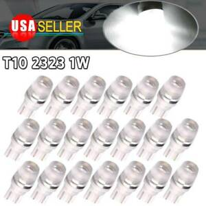 20x 6000k White 1w 2323 T10 Wedge Led Car Interior Lights Bulb Lamp 192 168 W5w