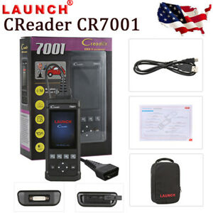 Launch Creader Cr7001 Obd2 Eobd Diagnostic Scan Tool Epb Bms Sas Dpf Us Stock