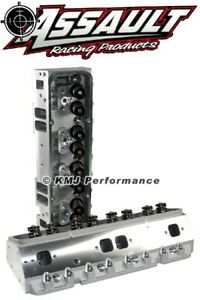Sbc Chevy Aluminum Cylinder Heads Complete 205cc 64 Ap 550 Springs 3 8 Studs