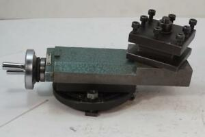 Excellent Emco Maximat V10 Lathe Compound Top Slide C w 4 Way Tool Post