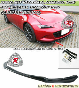 Mp Style Front Lip Abs Fits 16 21 Mazda Miata Mx5 Nd