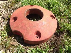 Used Farmall Cub Rear Wheel Weights Pair