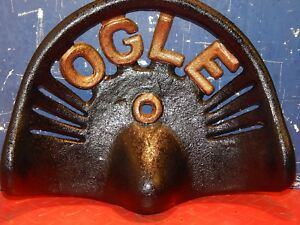 Ogle Vintage Cast Iron Tractor Implement Seat Farm Collectables