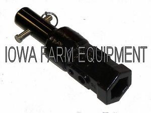 Mcmillen Mcmillan Post Hole Digger To Auger Adapter 2 Hex To 2 Round