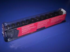New Snap on 3 8 Drive 12pc Semi deep Metric 6pt Impact Socket Set 212imfmsya