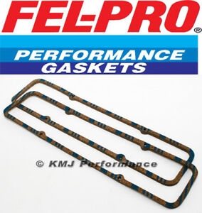Felpro 1604 Steel Shim Cork Valve Cover Gaskets Sbc Small Block Chevy V8 350 400