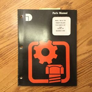 Dresser 708 710 Parts Catalog Manual Book Tandem Roller Asphalt Compactor Guide