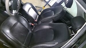 06 10 Volkswagen Beetle Black Ln Leather Front Rear Seat Set