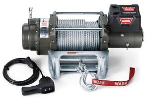 Warn 17801 M12000 12000 Lb Premium Series Winch 4 6hp Roller Fairlead 125 Cable