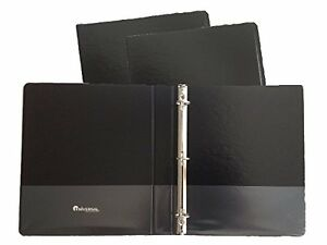 Black Vinyl Standard 3 ring Binders 1 2 inch For 8 5 X 11 Sheets With Insid