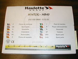 Pinguely haulotte Hb40 Boom Lift Parts Manual Book Catalog Telescopic Spare List