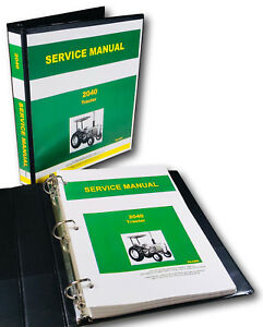Service Manual For John Deere 2040 Tractor Repair Technical Shop Book Overhaul