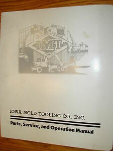 Imt 2015 Truck Crane Operation Maint Service Manual Parts Book Iowa Mold Tooling
