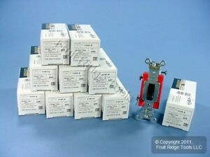 10 Leviton Brown Industrial Toggle Wall Light Switches 20a Single Pole 1121 2