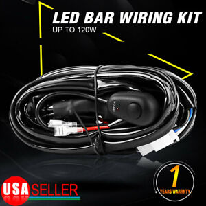 8ft Power Switch Relay Wiring Harness Kit For Led Light Bar Off Road