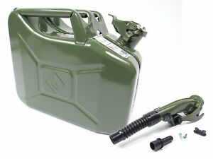 Valpro 10 Liter 2 5 Gallon Nato Style Jerry Can Gjc10 With Flexible Spout