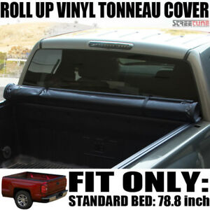 Low Profile Roll Up Tonneau Cover For 14 18 Chevy Silverado Fleetside 6 5 Ft Bed