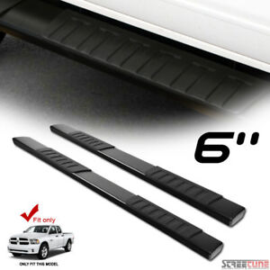 6 Oe Aluminum Steel Blk Side Step Running Board 09 17 18 Ram 1500 Quad extended
