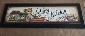 Country Kitchen Bear Cook Wanted Primitive Kitchen Decor Pip Berry Candle Sign