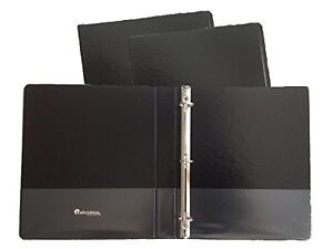 Black Vinyl Standard 3 ring Binders 1 inch For 8 5 X 11 Sheets 4 Pack