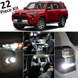 White Led Interior Exterior Lights Kit 2010 2019 2020 Toyota 4runner tool T43f
