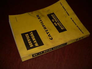Caterpillar Cat No 14 Motor Grader Service Manual