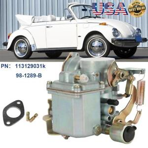 Fits Vw 1600cc 34 Pict 3 Type 1 Carb Carburetor Dual Port For Beetle Thing Bug