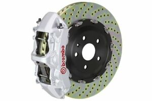 Brembo Gt Brake Kit Front 380mm 2 Pc Drilled 6 Piston Silver A6 3 2l C6 05 11