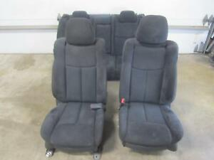 09 14 Nissan Maxima Set Black Cloth Seats Front Rear Driver Passenger