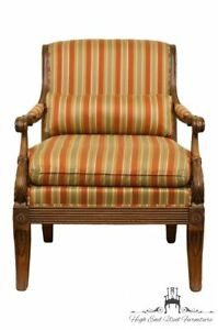 Ethan Allen Italian Neoclassical Tuscan Accent Arm Chair