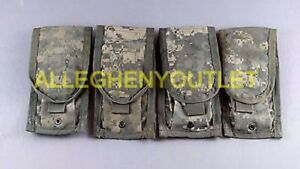 Qty 4 US Military Issue MOLLE II Double Mag Pouch ACU Camo Magazine Pouch VGC $12.90