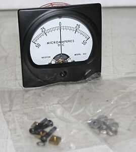 50 50 Ma Dc Analog Panel Meter Weston brownell Model 301